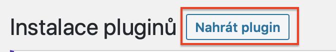 Jak nahrát plugin do WordPress